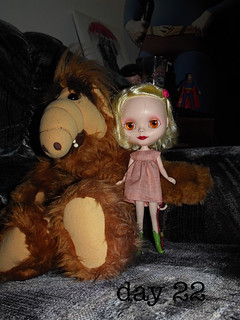 Elise hanging out with Alf...