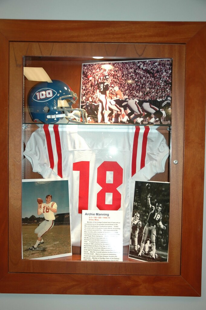 reputable site 2a1c3 74080 Ole Miss football locker room Archie Manning display | Flickr