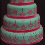 henna mehendi wedding cake
