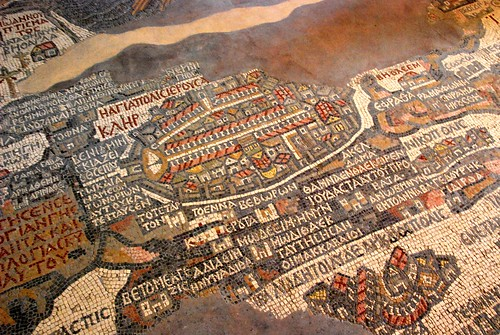 mosaic map of the holy land, madaba | by hopemeng