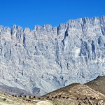the wall of Jebel Mischt