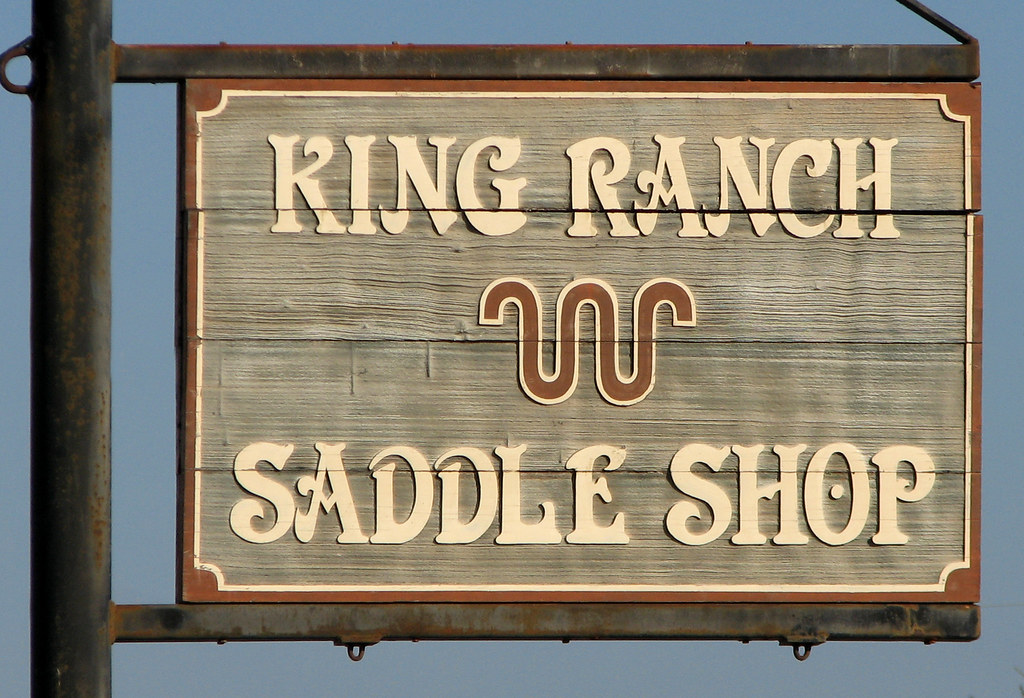 King Ranch Saddle Shop Sign | The King Ranch Saddle Shop sta
