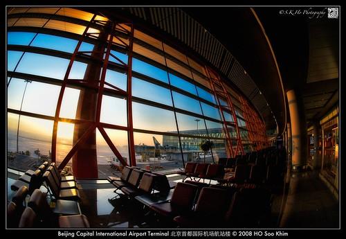 light architecture sunrise airport nikon interior beijing fisheye 北京 建筑 机场 d700 nikond700 beijingcapitalinternationalairportterminal3 攝影發燒友 北京首都国际机场t3航站楼