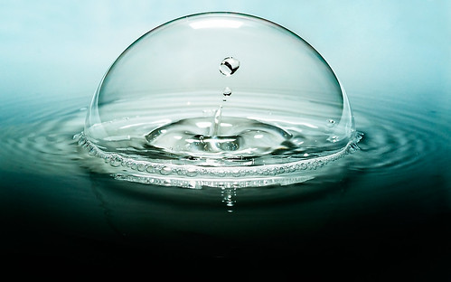 Water Drop in a Bubble