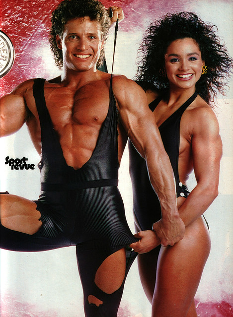 Stretchy 80's couple