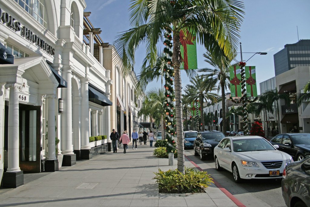 Rodeo Drive Beverly Hills California Usa Rodeo Drive