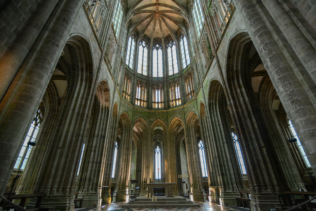 The Nave Of The Abbey Church Mont St Michel The Nave