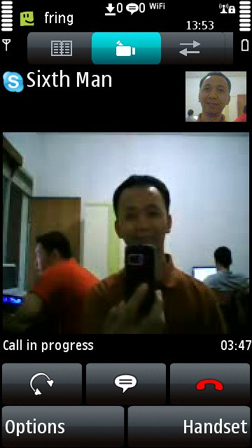 Skype video call on Nokia 5800 | Check it out Fring: www fri… | Flickr
