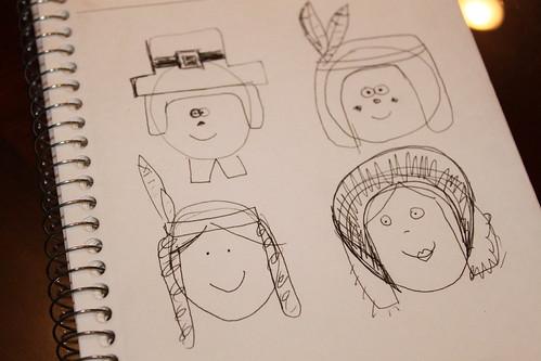 thanksgiving drawing   by MiraUncutBlog