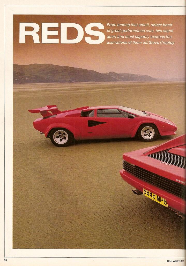 Ferrari Testarossa Lamborghini Countach Twin Road Test 1986 Flickr