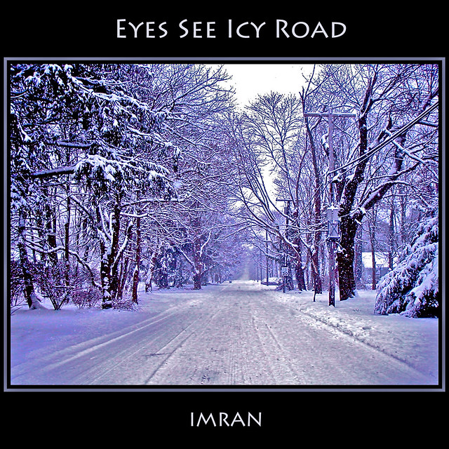 Eyes See Icy Road: Where Full Color Looks Black & White - IMRAN™ — 3000+ Views!