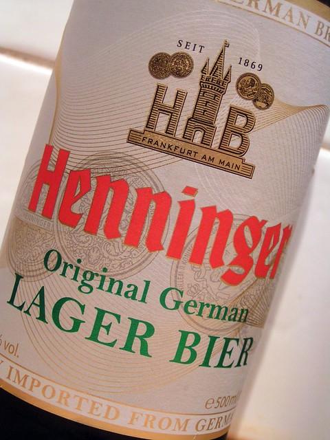 Henninger, Original German Lager Bier, Germany