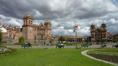 The Plaza de Armas of Cusco
