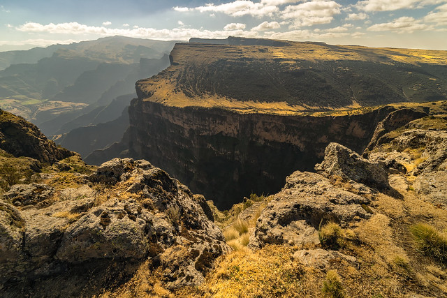 Steep Drops in the Simien Mountains