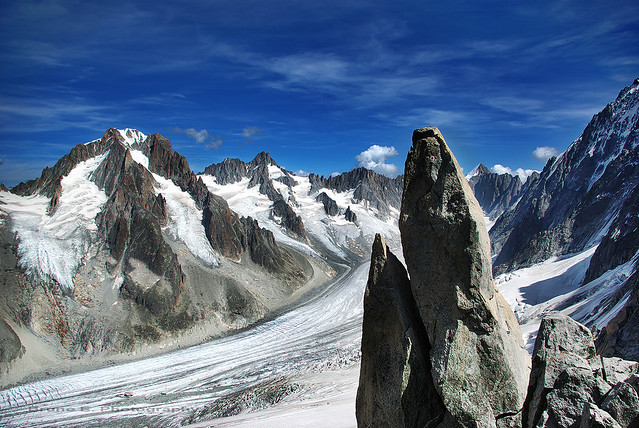 Glacier d'Argentière massif du Mont Blanc (3000m)