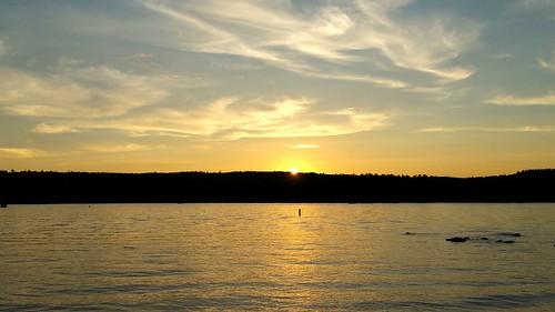 sunset lake little maine sebago