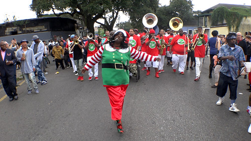 Lady Rollers Second Line Parade with Hot 8, Christmas Day 2016