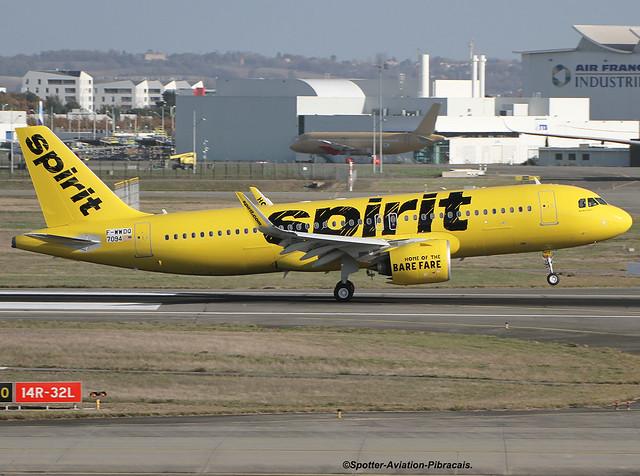 Spirit Airlines. Airbus A320 NEO.