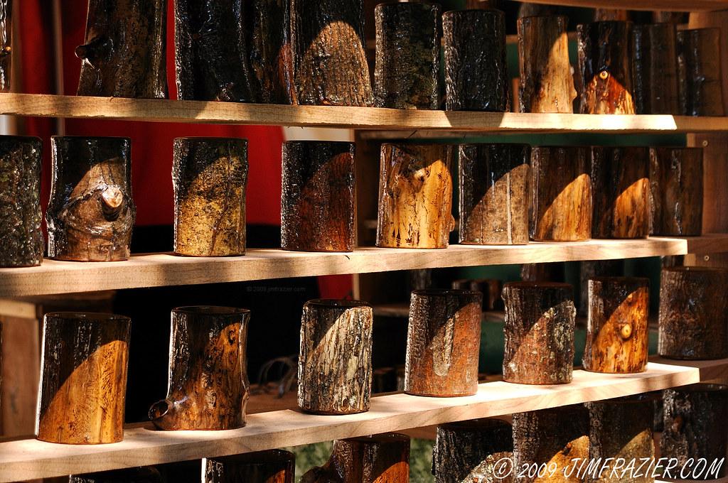 Shelves Of Wooden Mugs Bristol Renaissance Fair Wwwrenfai Flickr
