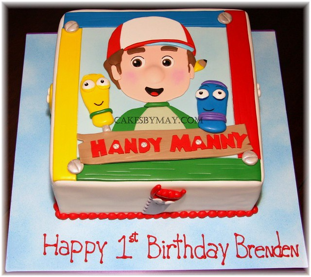 Pleasing Handy Manny Cake All Made Of Fondant Cakes By Maylene Flickr Birthday Cards Printable Inklcafe Filternl
