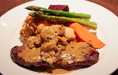 Seafood Steak New York presentation | by waferboard