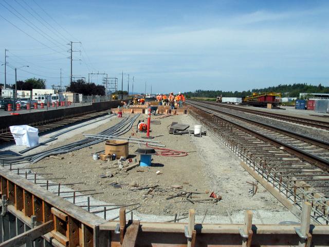 Stanwood Station platform rebar and foundation constructio…   Flickr