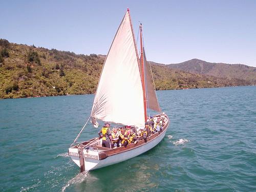 Sailing a cutter, Marlborough Sounds, New Zealand | by TheCreativePenn
