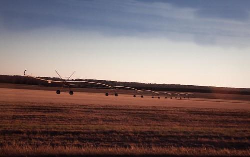field georgia bare machinery irrigation goldenhour macon