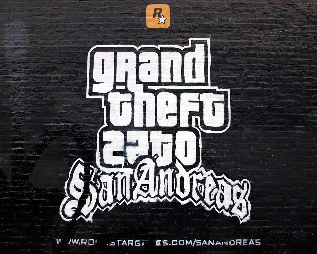 Foto Murales New York.Grand Theft Auto San Andreas Mural Brooklyn New York Cit