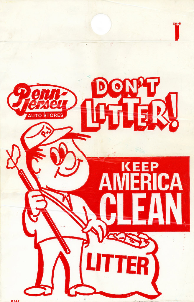 Penn-Jersey Auto Stores Litter Bag   1960's or 70's   Todd ...