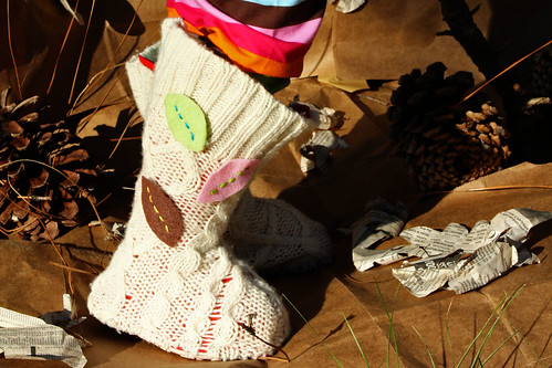 Upcycled Sweater Boots | by ohsohappytogether