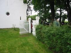 Indgangen til kirkegården ved Ingelstrup Kapel