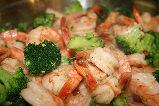 what's for dinner: shrimp and broccoli scampi-ish thing | by jencu