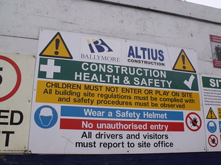 The Snowhill development - Construction health & safety - sign | by ell brown