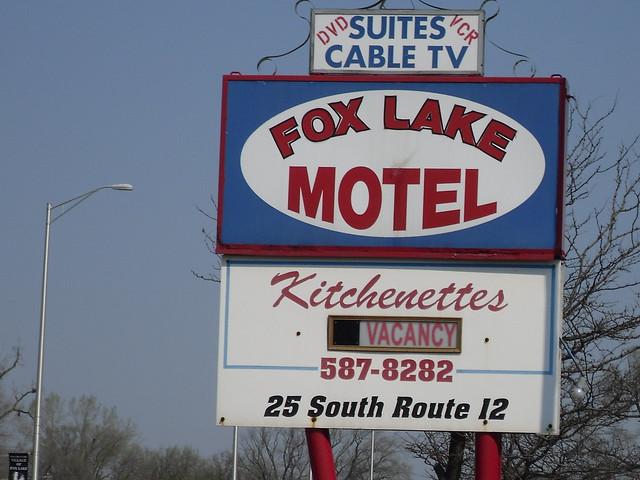 Route 12 motel sign, Fox Lake, Illinois