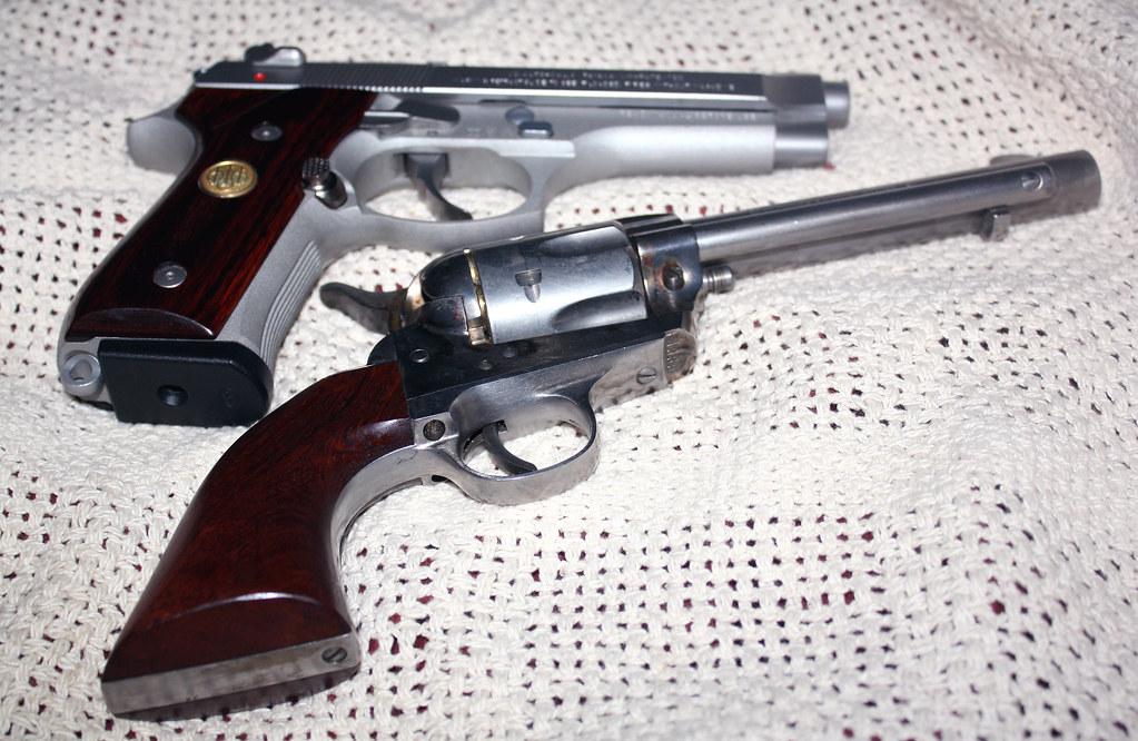 Beretta 92 FS Inox 9mm and Rough Rider 45 Long Colt | Flickr