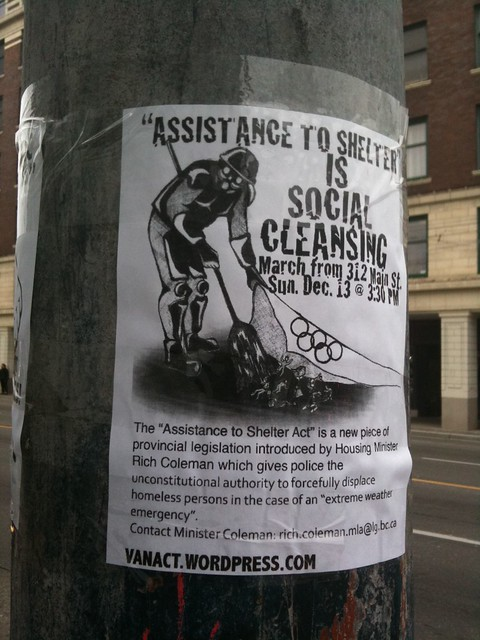 """""""Assistance To Shelter"""" is Social Cleansing"""