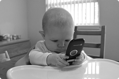 cell phone baby   by SparkCBC