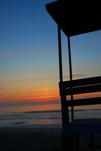 beach sunrise nc nikon carolinabeach lifeguardstand d80
