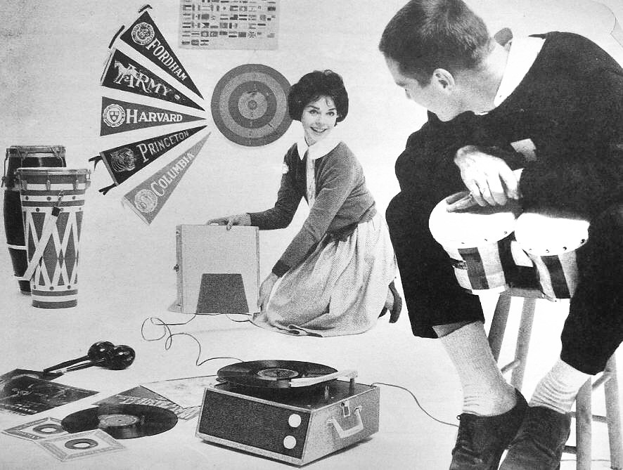 1960s Early 60s, RCA Record Player Phonograph Young Man Wo… | Flickr