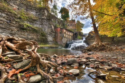 autumn ny newyork fall abandoned water river lunch waterfall nikon wells falls foliage ithaca hdr highdynamicrange d300 photomatix businessmans businessmanslunch sigma50th