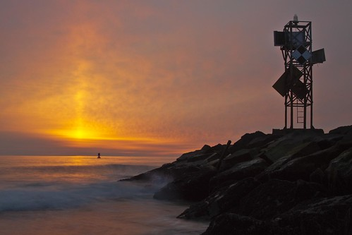 ocean sea water sunrise md sand rocks waves jetty maryland wave atlantic oceancity oc beacon foghorn delmarva