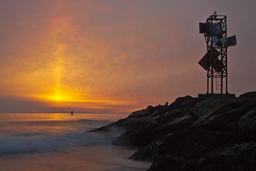 ocean sea water sunrise md sand rocks waves jetty maryland wave atlantic oceancity oc beacon foghorn delmarva