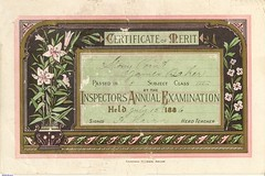 Certificate of Merit from the Stony Point School