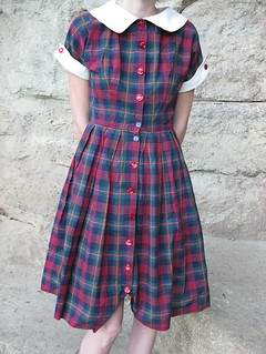 plaid 50s shirtwaist dress | by CastawayVintage