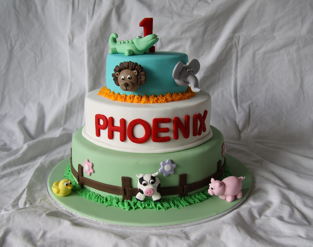 Amazing Phoenix 1St Birthday Cake A Photo On Flickriver Funny Birthday Cards Online Barepcheapnameinfo