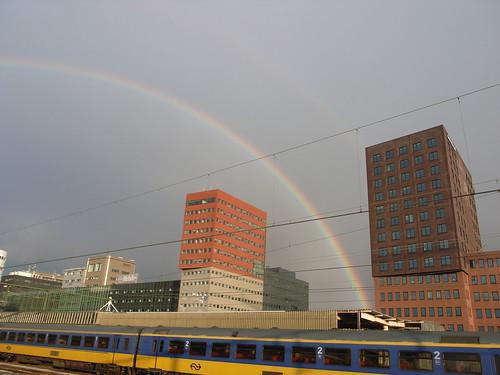 rainbow over Den Haag HS