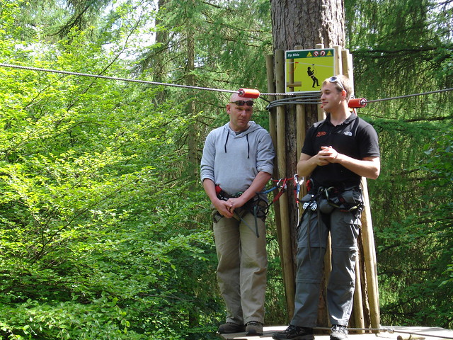 Paul with an instructor from Go Ape!
