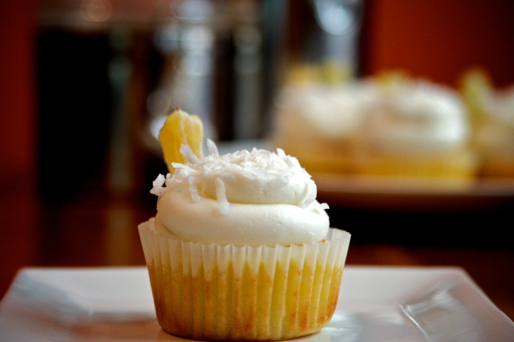 Pina Colada Cupcake Bokeh