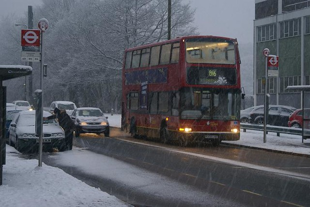 Double Deck B16 In The Snow